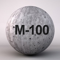 Бетон М-100: характеристики, применение, свойства